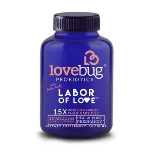 LoveBug Probiotic Labor of Love Dietary Supplement Capsules - 30ct