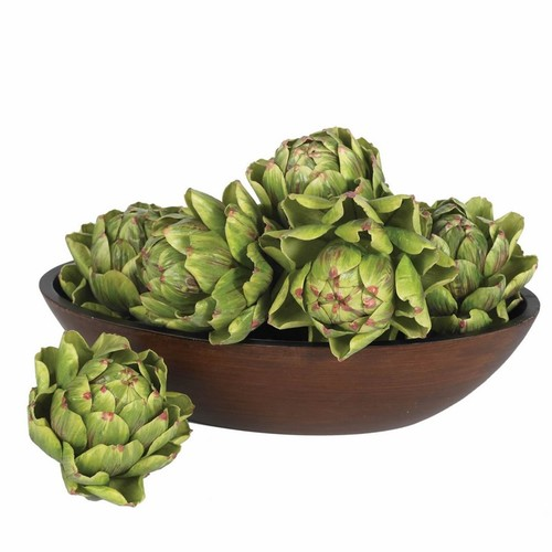 Nearly Natural Artichoke Artificial Flower 5-Inch Green Set of 6 4686