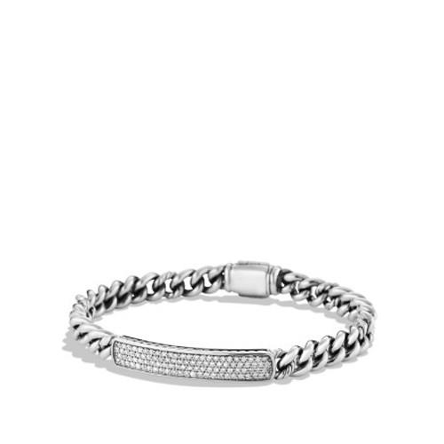 Petite Pav ID Bracelet with Diamonds
