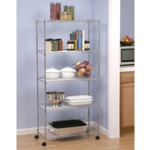 Seville Classics Metal 5-shelf Shelving System