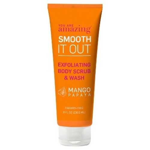 you are AMAZING mango papaya exfoliating body scrub & wash 8 oz