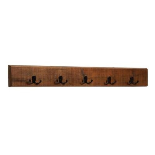 Alaterre Furniture 5 in. Revive - Reclaimed Coat 8-Hooks in. Natural