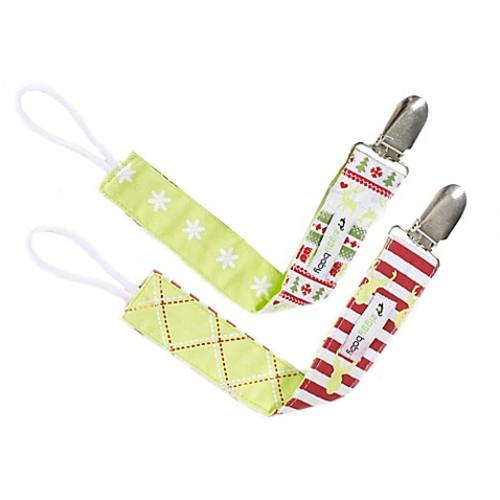 Ziggy Baby 2-Pack Merry & Bright Pacifier Clips