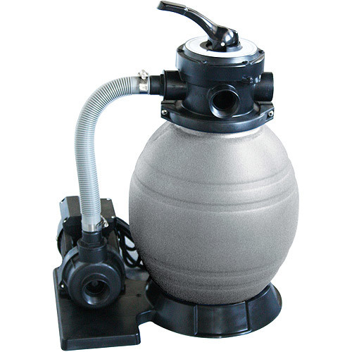 Blue Wave 12-Inch Sand Filter System with 1/2 HP Pump for Above Ground Pools [Black]