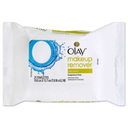 Olay 25-Count Makeup Remover Wet Cloths Fragrance-Free