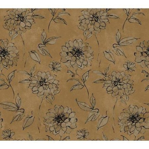 York Wallcoverings Book Sketched Rose 27' x 27'' Wallpaper Roll