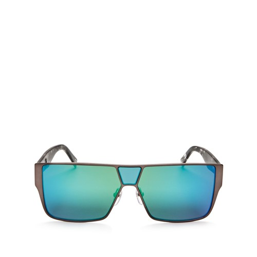 Mirrored Shield Sunglasses, 59mm