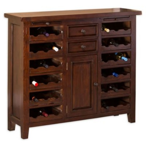 Hillsdale Tuscan Retreat Wine Console in Rustic Mahogany
