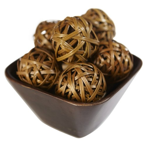 Nearly Natural Decorative Balls Brown Set of 12 3022