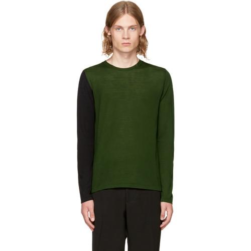 MARNI Green & Black Colorblocked Sweater