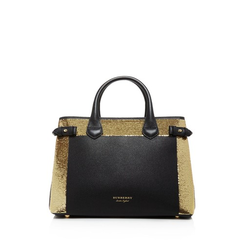 BURBERRY Banner Sequin House Check Medium Tote