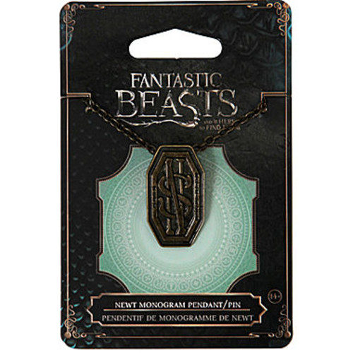 Fantastic Beasts and Where to Find Them Newt Monogram Pendant Pin