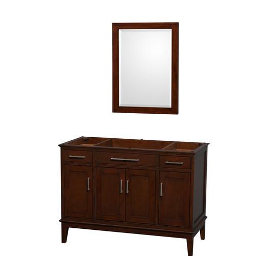 Hatton Collection 48 in Single Bathroom Vanity in Dark Chestnut [WCV161648SCDCXSXXM24]
