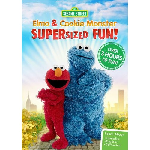 Sesame Street: Elmo and Cookie Monster Supersized Fun [DVD] [2017]