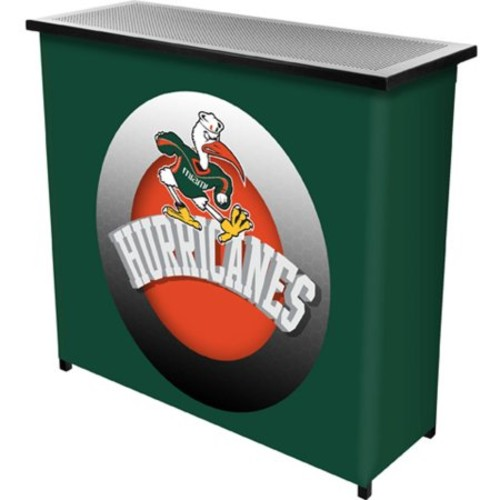 University of Miami Sebastian Portable Bar with Carrying Case, Honeycomb
