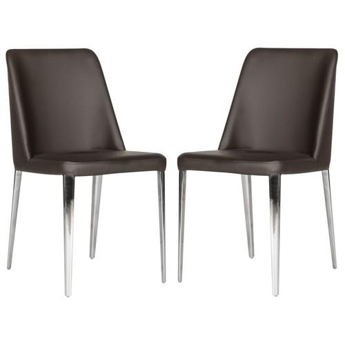 Safavieh Metropolitan Dining Baltic Brown Dining Chairs (Set of 2)