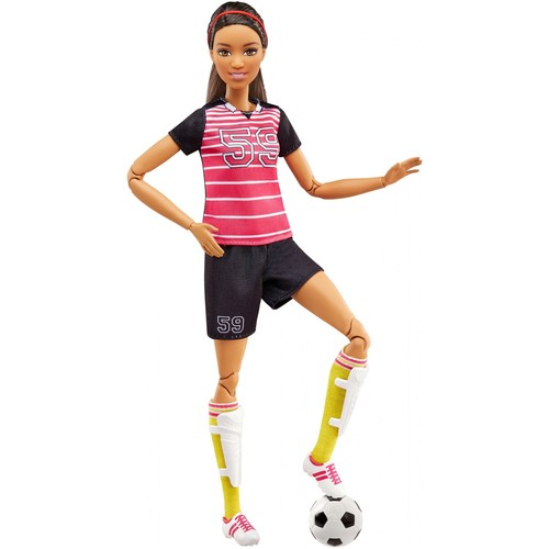 Barbie Made To Move Soccer Player African-American Doll