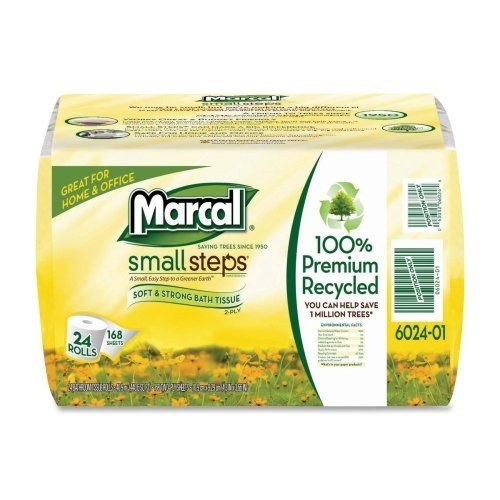 MRC6024 - Marcal 100% Recycled Convenience Bundle Bathroom Tissue Roll
