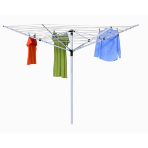 Honey-Can-Do Outdoor Umbrella Clothes Line Dryer in White