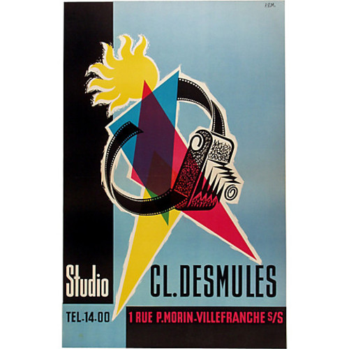 French Photography Studio Poster