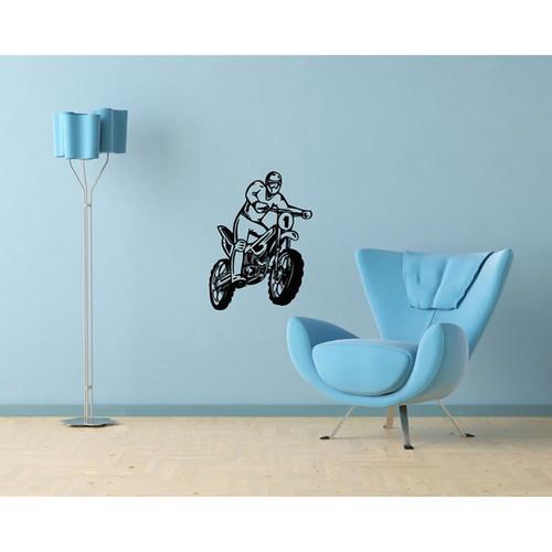 Motorbike Jump Vinyl Wall Decal