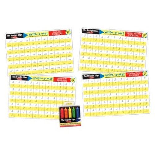 Melissa & Doug Math Skills Placemat Set - Addition, Subtraction, Multiplication, and Division 10pc