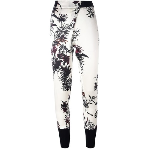 ANN DEMEULEMEESTER Floral Print Trousers