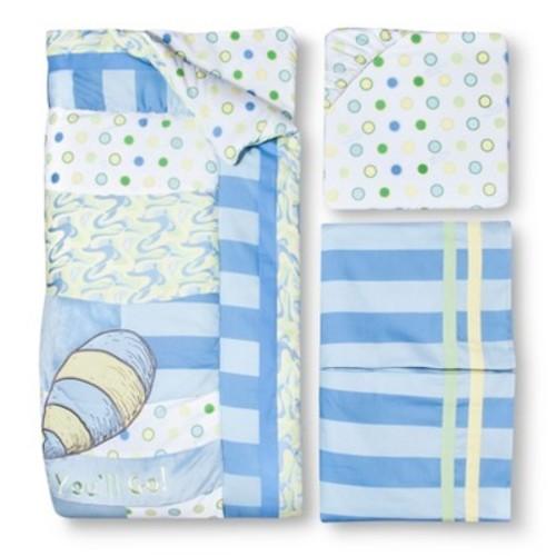 Dr. Seuss by Trend Lab 3pc Crib Bedding Set  Oh Places Blue