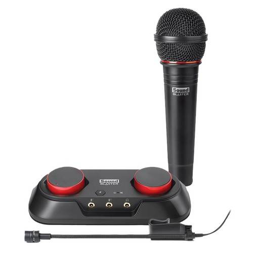 Creative Sound Blaster R3 USB All-In-One Audio Recording and Streaming Kit (Includes Instrument and Vocal Microphone) and Audio Interface for PC/Apple/Mac/Laptop/Desktop