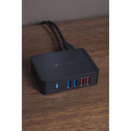 Sabrent 7 Port USB 2.0 HUB + 2 Charging Ports w/ 12V/4A Power Adapter HB-U930