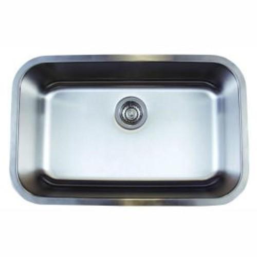 Blanco Stellar Undermount Stainless Steel 28 in. 0-Hole Super Single Bowl Kitchen Sink