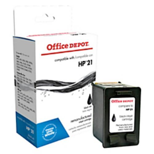 Office Depot Brand 221 (HP 21) Remanufactured Black Ink Cartridge