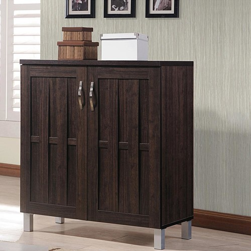 Baxton Studio Excel Dark Brown Storage Cabinet