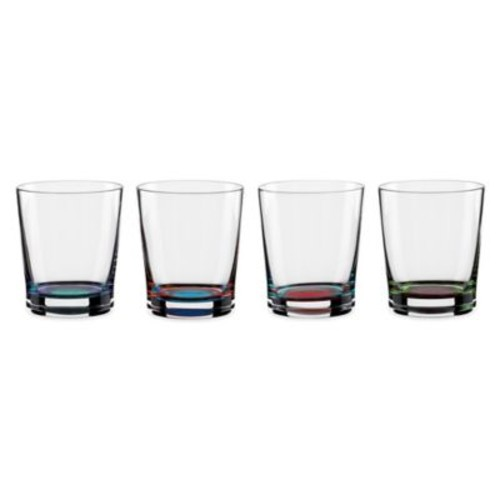 DKNY Lenox Urban Essentials Barware Double Old Fashioned Glasses (Set of 4)
