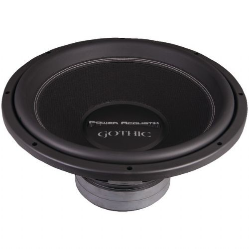 POWER ACOUSTIK GW3-15 GOTHIC SERIES 2OHM DUAL VOICE-COIL SUBWOOFER (15