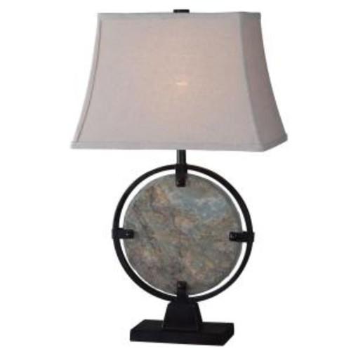 Kenroy Home Suspension 28 in. Green Slate Table Lamp