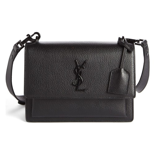 SAINT LAURENT Medium Sunset Leather Shoulder Bag