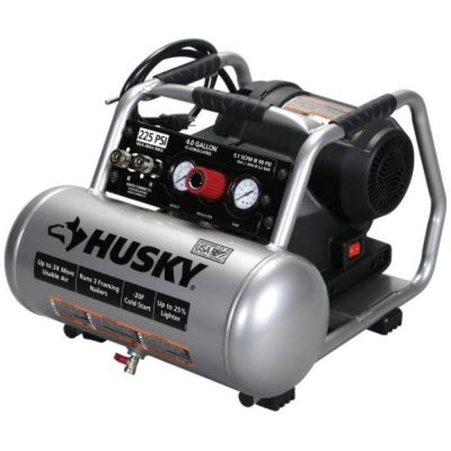 Husky 4 Gal. 225 PSI High Performance Crew Electric Portable Air Compressor