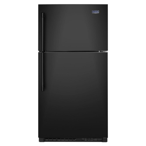 Maytag 33 in. W 21 cu. ft. Top Freezer Refrigerator in Black