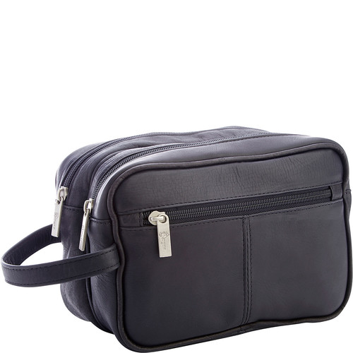 Royce Leather Colombian Leather Travel Toiletry Bag