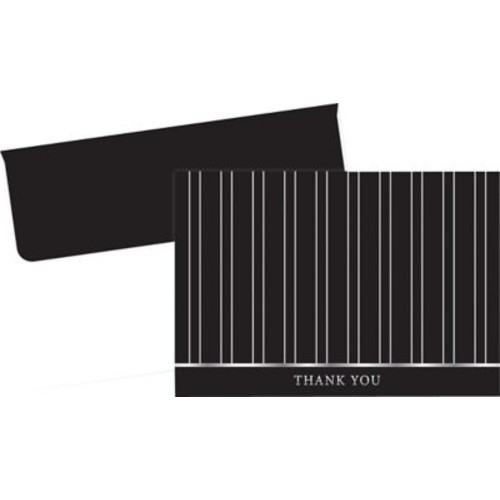 Great Papers Silver Foil Pinstripe Thank You Cards, 24/Pack