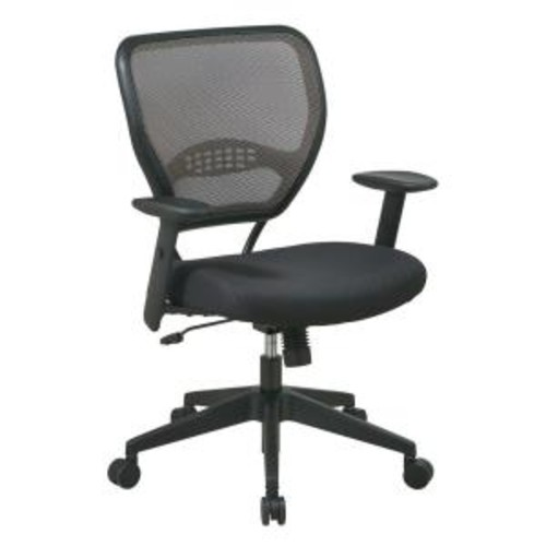 Space Seating Deluxe Black AirGrid Back Manager Office Chair