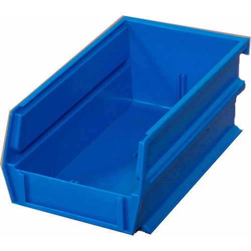 Triton Products LocBin 7-3/8 in. L x 4-1/8 in. W x 3 in. H Blue Stacking, Hanging, Interlocking Polypropylene Bins (10-Count)
