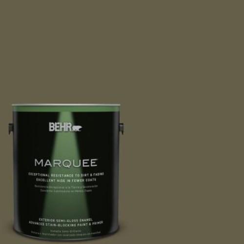 BEHR MARQUEE 1-gal. #PPU9-1 Alligator Skin Semi-Gloss Enamel Exterior Paint