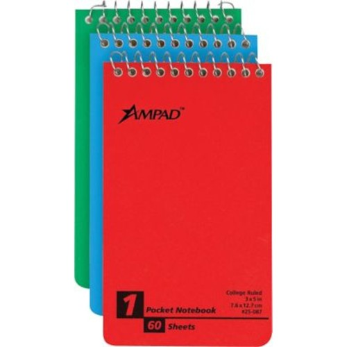 Ampad Wirebound Pocket Memo Book, 3