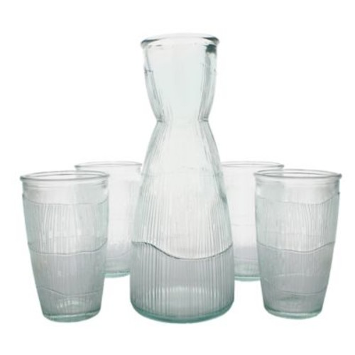 French Home Birch 5-Piece Decanter and Tumbler Set in Clear
