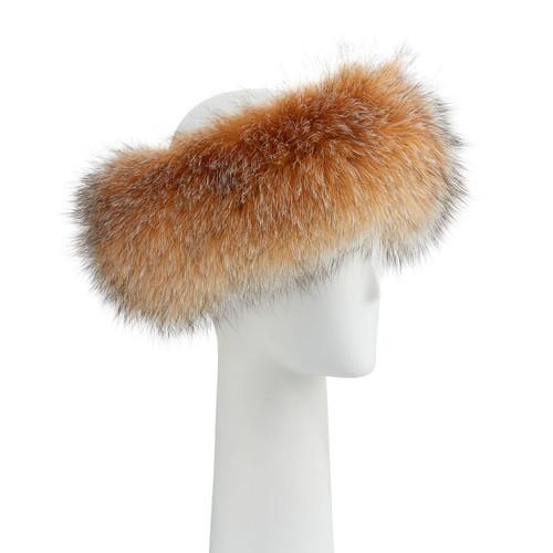 Surell Accessories Fox Fur Headband