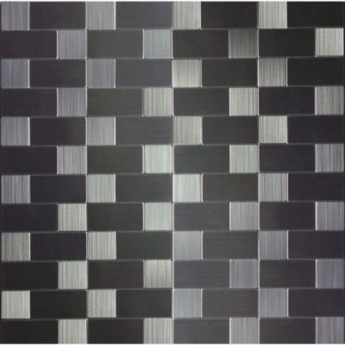 Instant Mosaic Peel and Stick Metal Wall Tile - 2 in. x 6 in. Tile Sample