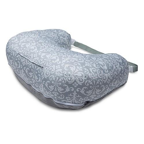 Boppy 2-Sided Breastfeeding Pillow in Kensington Grey