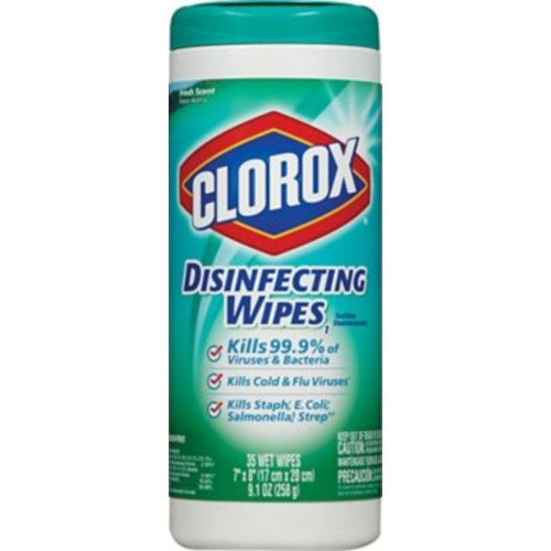 Clorox Disinfecting Wipes, Fresh Scent, 35 Wipes/Canister, 12/Ct